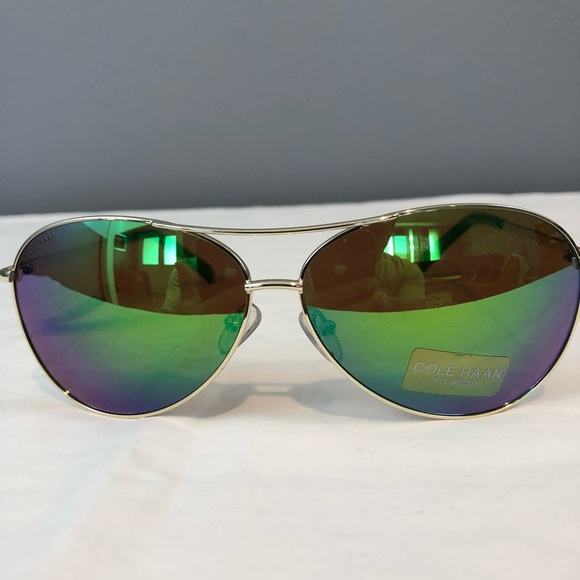 80734b1e7510 Cole Haan Accessories | Aviator Sunglasses Green Flash | Poshmark
